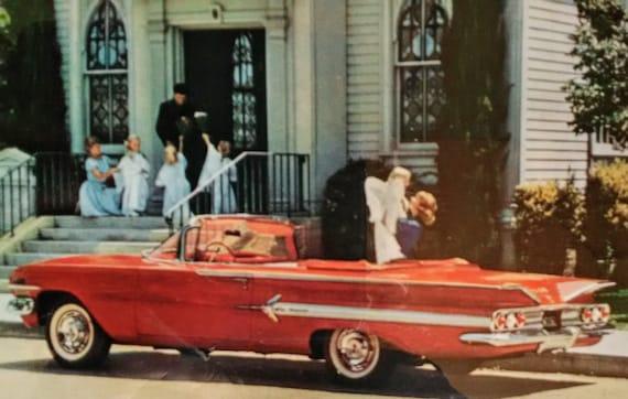 Framed 1960 Impala Chevy Convertible Ad Superlative