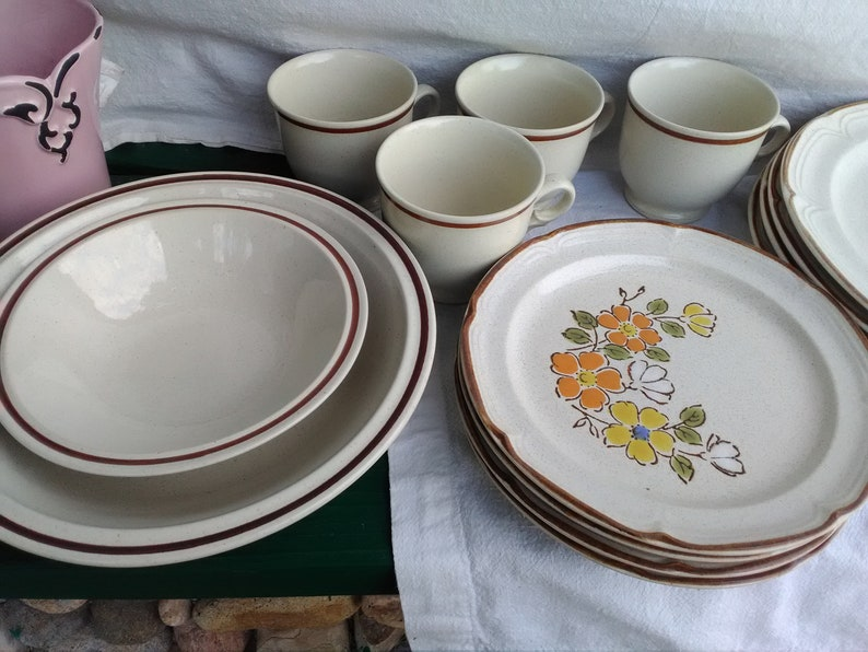 More Hearthside Floral Stoneware A Set for Four