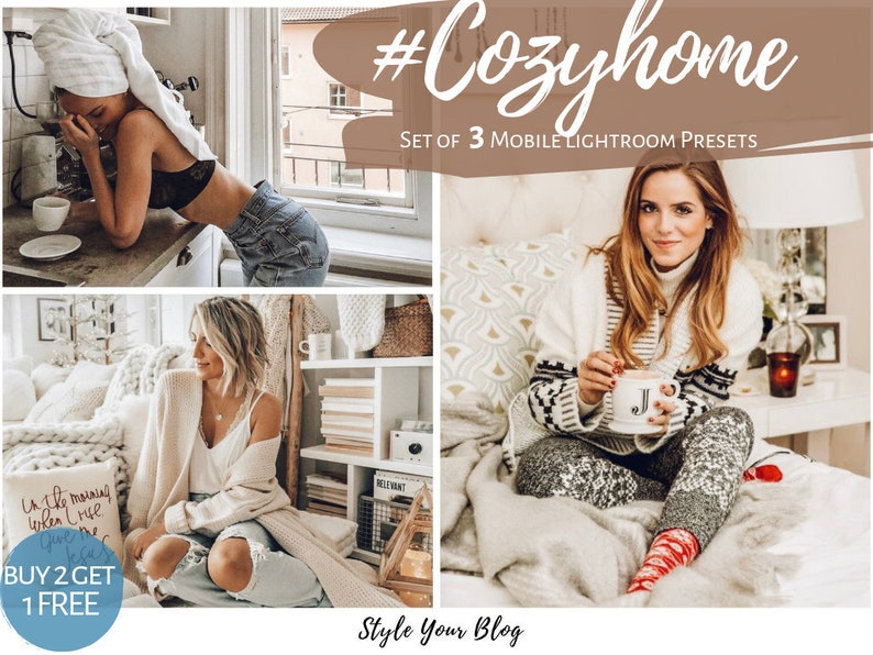 3 COZY HOME Presets for Mobile Lightroom ir vsco photoshop filters Iphone  Lifestyle fashion travel family bloggers indoor bestseller trendy