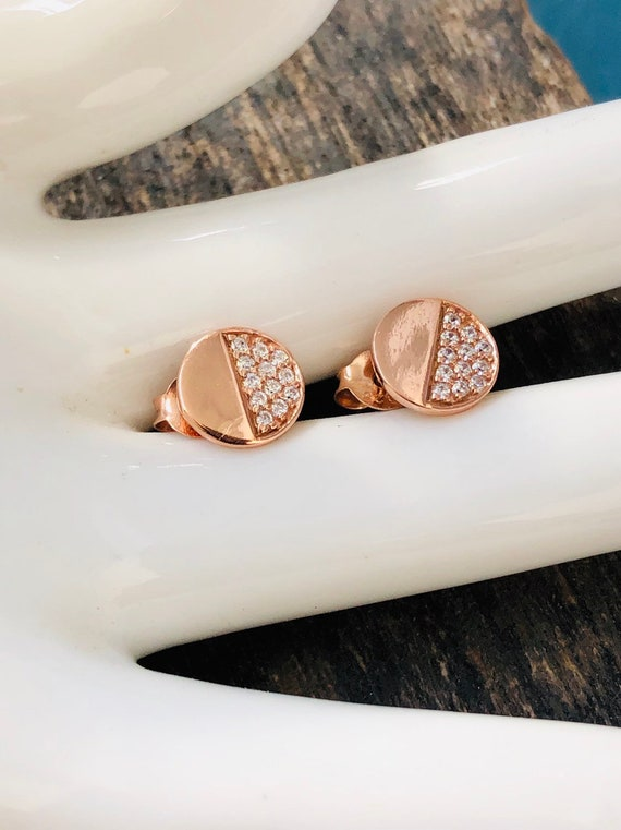 94918b677b18 Boho skinny rose gold filled with diamond crystals silver
