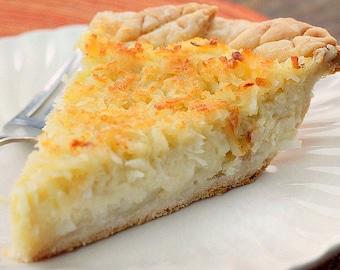 Southern Coconut Custard Pie - Southern desserts - soul food desserts- Custards- Pies