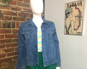 Denim Jacket, Jean Jacket, 80s Jacket, 80s, 70s, 70s Jacket, 70s Denim, Vintage Denim Jacket, Vintage Jacket, Denim, Womens Denim Jacket