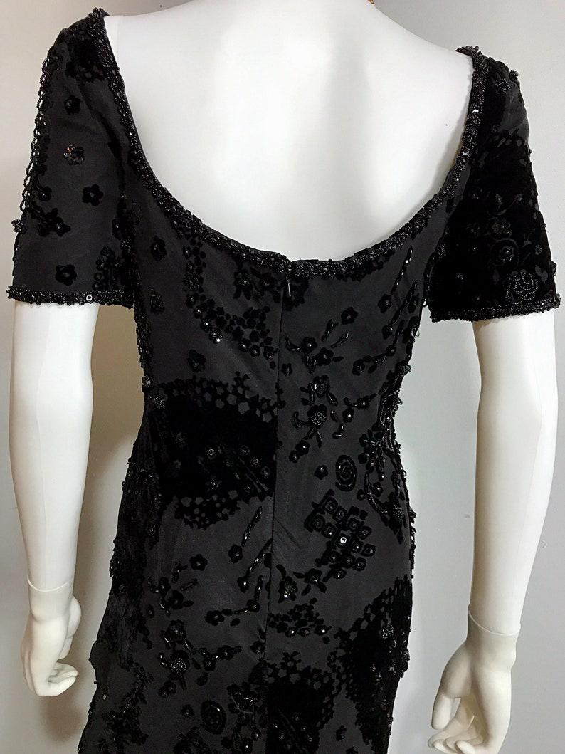 Vintage Prom Dress Evening Dress 90s Dress Prom Dress Beaded Dress Velvet Dress Prom Dress Long Evening Gown Black d 90s Prom Dress