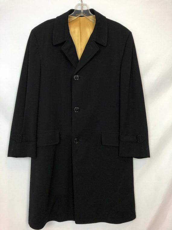 Superb 50s/60s Black Men's Evening Coat, Overcoat,