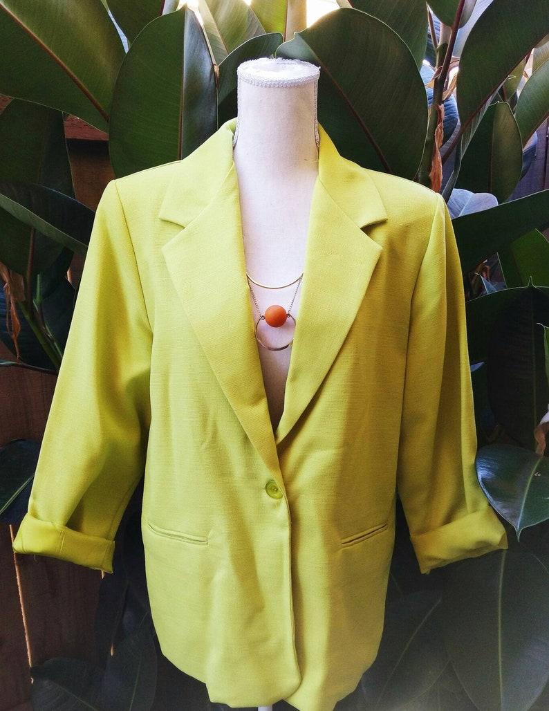 BFA Classics chartreuse blazer