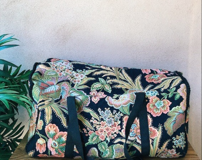 Floral overnight / luggage/ duffle