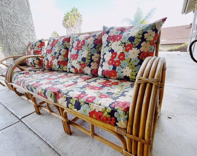 Rattan Pretzel Sofa and Chair