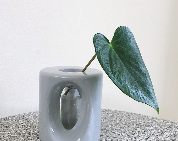 Grey Floating Vase