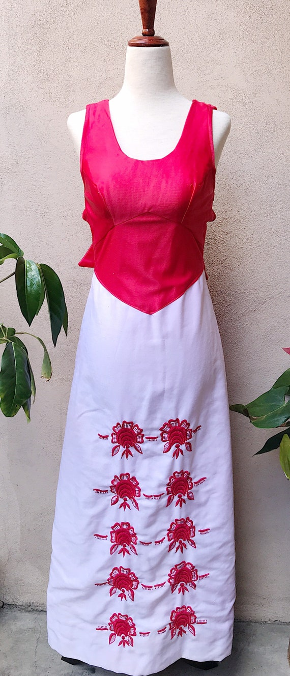 60's Embroidered Maxi