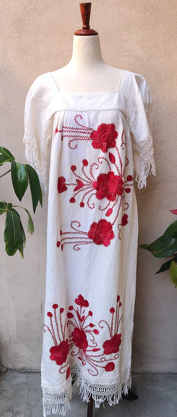 70's Embroidered Maxi