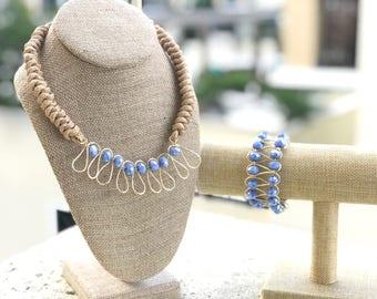 Collar hecho a mano en color lila y morado. Necklace light and dark purple. Handmade. Regalo para ella, gift to her.Elegant FREE SHIPPING