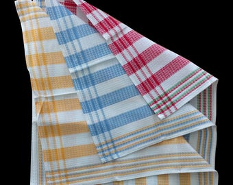 Timeless Set (2) of Extra Large Striped Tea Towels - 100% French Cotton