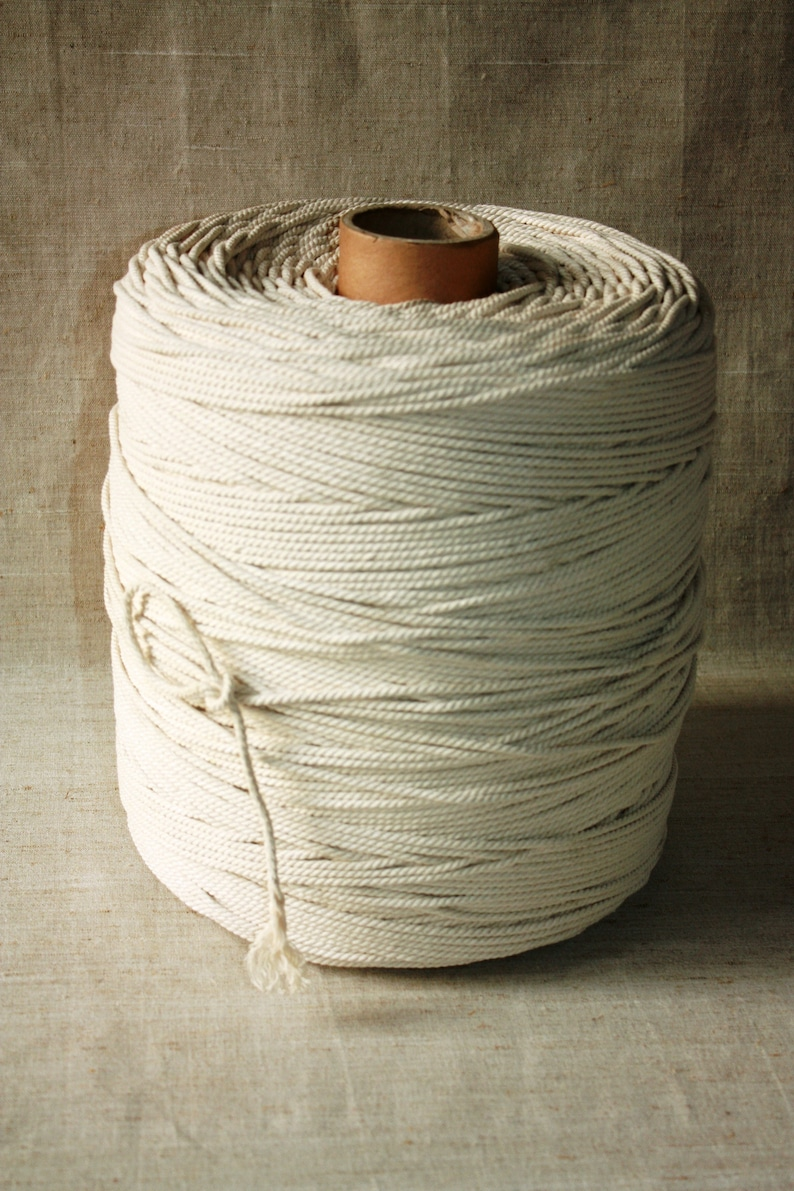 5 mm = 1364 Cotton Rope = 21 Yards =19.20 Meters Natural Elegant 100 /% COTTON TWISTED CORD Semi White Offwhite Raw White Not bleached Rope