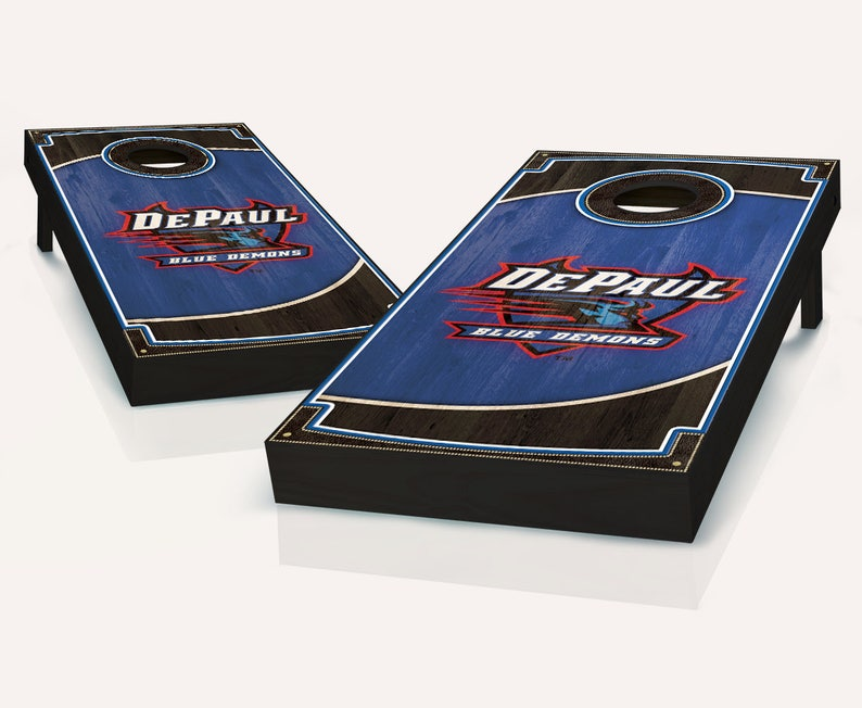 DePaul Blue Demons Wood Cornhole Set with Bags