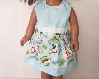 "American girl- 18"" doll dress. For fun snow days!"