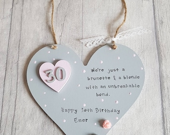 Personalised Hanging Heart Plaque