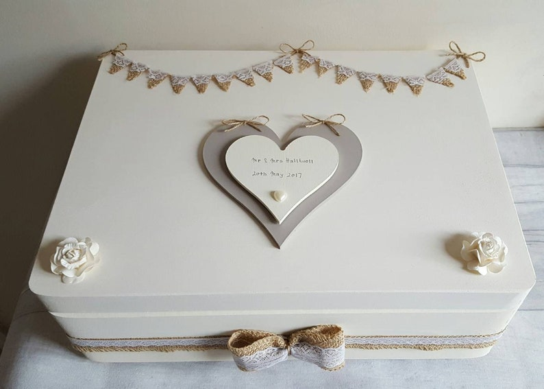 Personalised Wedding Memory Box Rustic Wedding Keepsake Box Personalised Wedding Gift