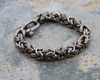 Stainless Steel Byzantine Chainmaille Bracelet