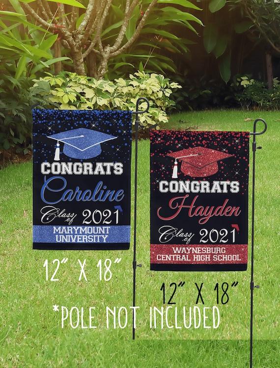 farm house country decor Graduation announcement yard sign All school colors available Garden decor Senior 2020 Graduation Flag