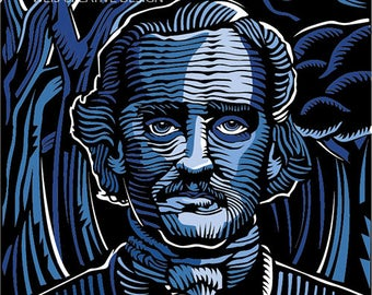 Edgar Allan Poe Digital Illustration