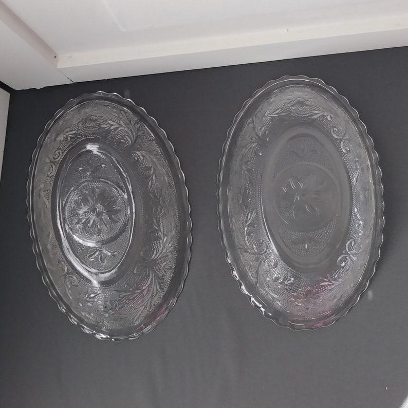 Vintage Oval Bowl  Sandwich Pattern Anchor Hocking