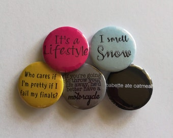 Gilmore Girls Buttons