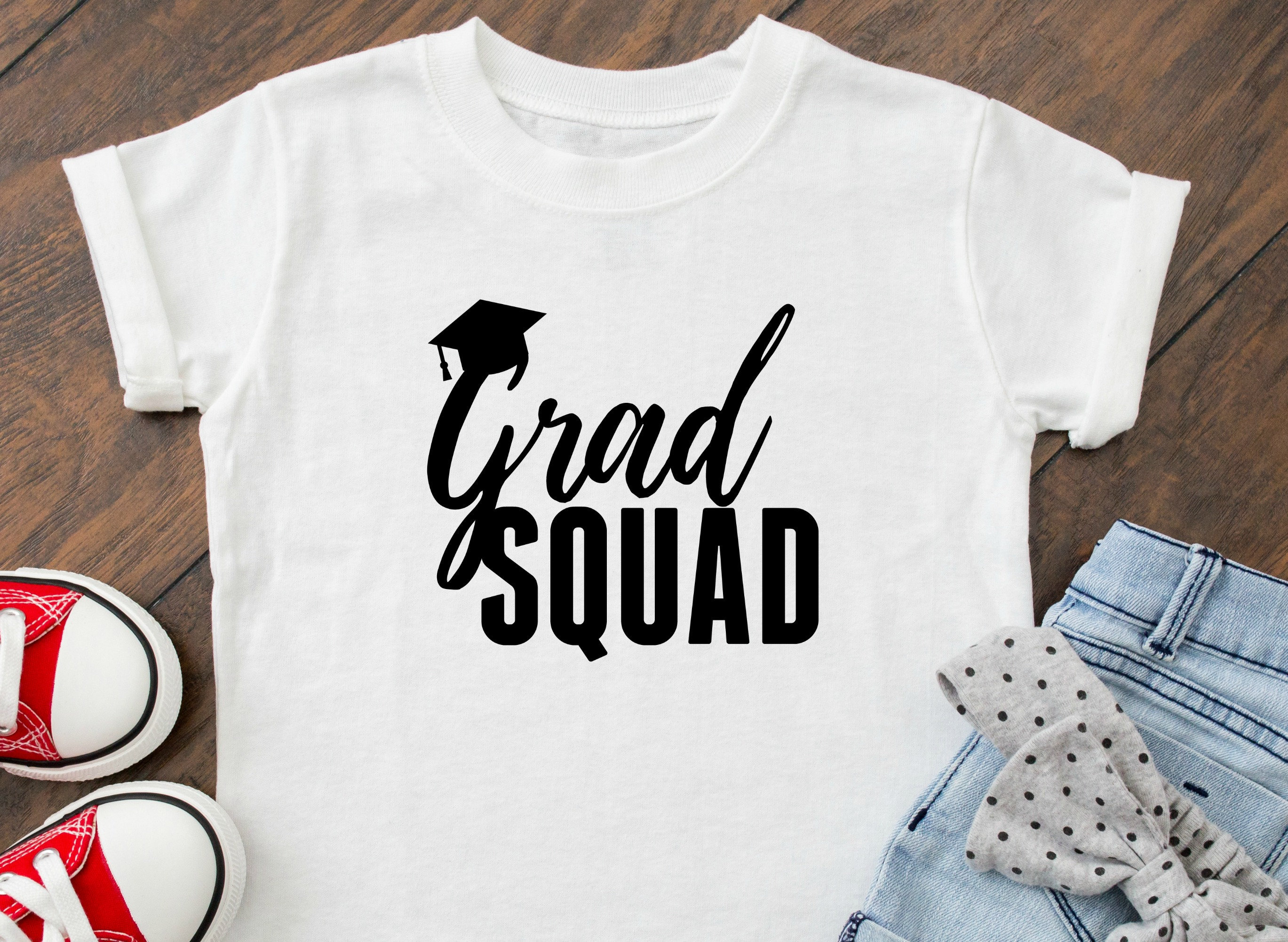 Grad Squad Shirt School Custom Shirts Graduation 2018 All Etsy