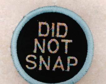 DID NOT SNAP adult merit badge