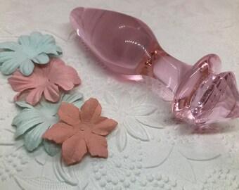 b6eadf331 Crown Jewel Pink Glass Butt Plug