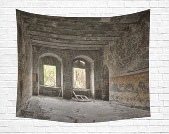 """Abandoned Building Wall Tapestry 60""""x 51"""""""