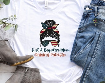 Raising Patriots Mom Shirt Homeschool Mama shirt Informed Mama Freedom Keeper Mom Activist Shirt