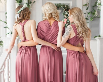 e56404f1a33 Rosewood Infinity Bridesmaid Dress Infinity Dress Floor Length Maxi Wrap Convertible  Dress Wedding Dress Multiway Dress