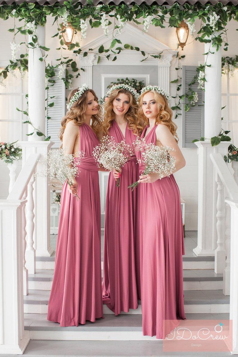 e521bd29c05 Floor Length LONG Ball Gown Maxi Infinity Dress Convertible