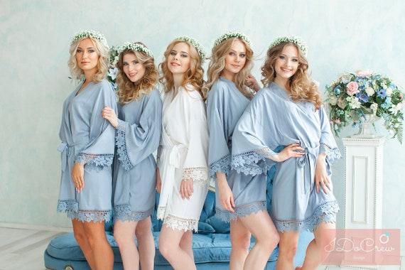 Cotton Bridesmaid Robes Robes for Bridesmaids Bridal Party | Etsy