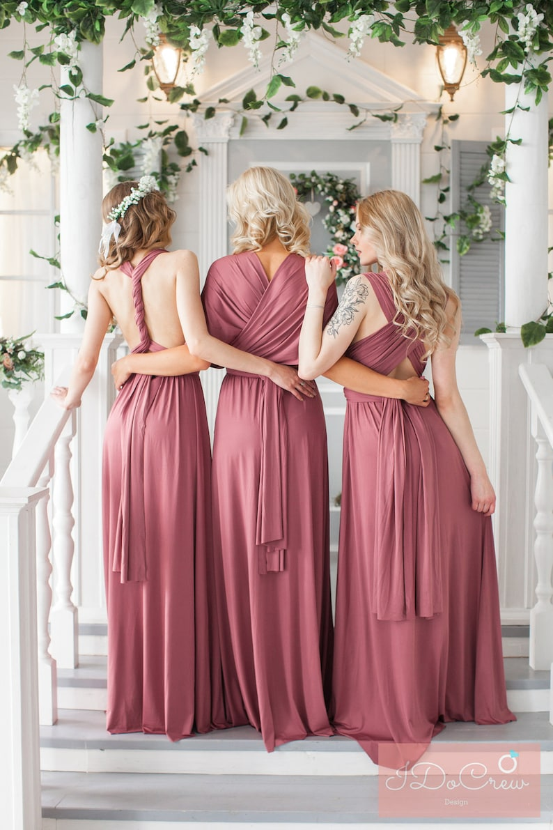eedb5742319 Rosewood Bridesmaid Dress Infinity Dress Floor Length Maxi