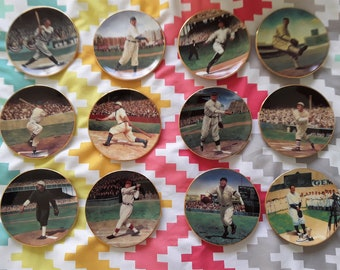 Legends of Baseball Mini-Plate From The  Bradford Exchange Set of 12
