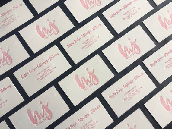 Letterpress Business Cards Custom Letterpress Business | Etsy