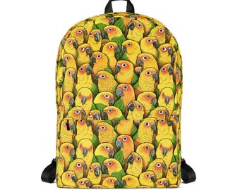 Jenday Conure Backpack Printed Print School Jandaya Parakeet Bird Bag All Over Birb Parakeets Conures Bags