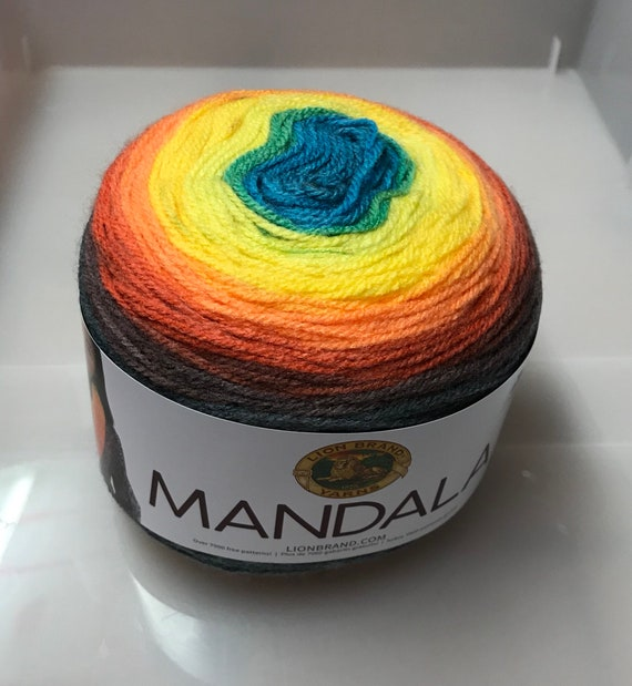 Yarn Mandala Centaur Yarn Lion Brand Dk Multi Coloured Knitting