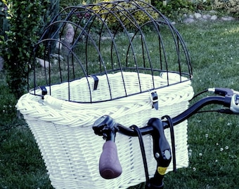 Bicycle Wicker Basket for dog cat Pet with free pillows