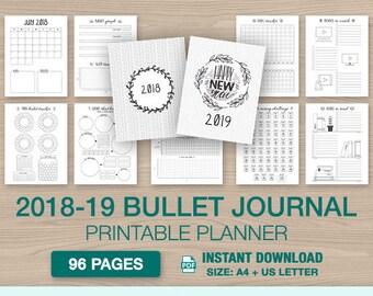 bullet journal printable etsy