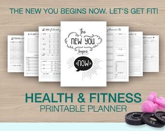 fitness diary etsy