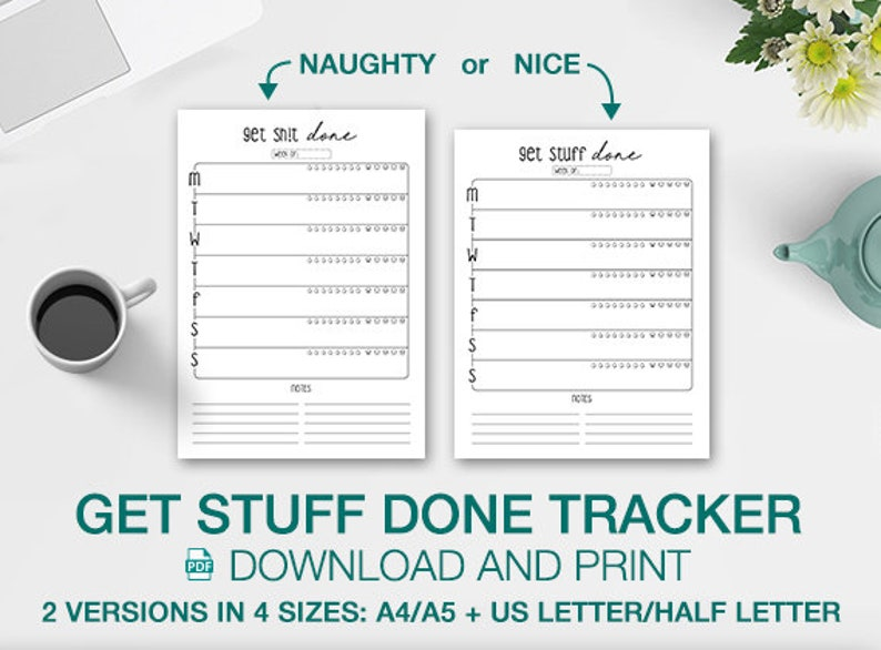 picture about Printable Stuff identify Printable Just take Things Accomplished, Purchase Shit Completed Weekly Planner Immediate Down load Organiser Towards-do listing Every day Planner Drinking water Temper Trackers