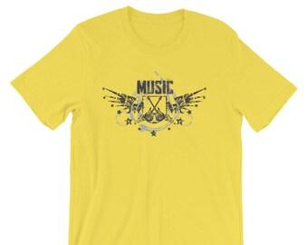 Music T-shirt 1 Music Lovers Short-Sleeve Unisex Guitar T-Shirt