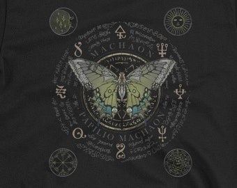 3fb7988a0 Ancient Science T-shirt, Butterfly Study T-shirt, Alchemy Short-Sleeve  Unisex T-Shirt, Sacred Geometry,