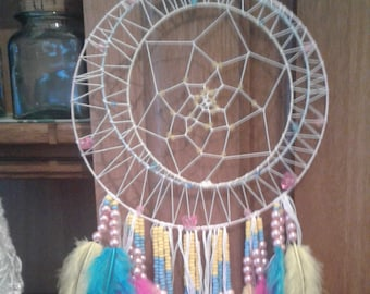 Dream catcher feathers and Pearl pastel