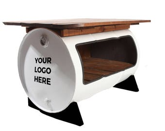 Upcycled Steel Drum Barrel Table