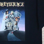 Beetlejuice vintage rare T-shirt, black semi horror movie tee, Tim Burton, gothic ghost, Edward Scissorhands, Ghostbusters, Addams Family