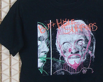 Butthole Surfers T-shirt, faded black tee, vintage rare Another Mans Sac, punk rock, Gibby Haynes