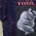 Tool t-shirt, vintage rare Prison Sex shirt, Nine Inch Nails, Melvins, Pearl Jam, Smashing Pumpkins, Alice In Chains, tie dye all over print